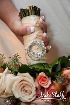 """something old.."" use an old family heirloom, like a broach or pin on the brides bouqet...totally love this."