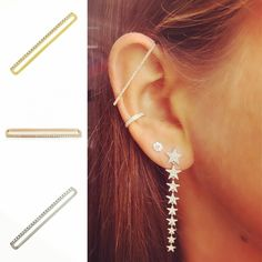 Memorial Day Weekend Sale 20%off. Introducing our new earbar cuff for that perfect stacked look! #cooljewelry #stackedjewelry #layeredjewelry #earbar #earcuff #memorialday #memorialdayweekend #memorialsayweekendsale  www.brazilianbrastraps.com/collections/jewelry/products/earbar-earring Ear Bar, Layered Jewelry, Weekend Sale, Bra Straps, Memorial Day, Collections, Earrings, Products, Fashion
