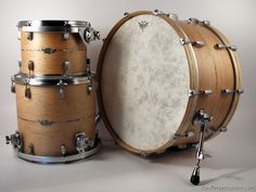 Stauffer Percussion 1-ply solid shell drum kit