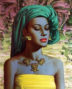 Vladimir Tretchikoff - Balinese Girl - All the mystic fascination of the women of the Orient has been captured in this canvas. The baffling subtlety of the expression contains all that the mind of the West finds difficult to grasp in Eastern passivity of purpose.