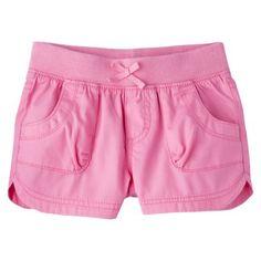 Cherokee® Infant Toddler Girls' Chino Short with navy ruffle?