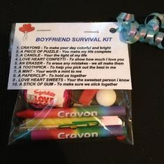 For Phil? Boyfriend Survival Kit _ Valentines Gift For Him , Birthday Gift Anniversary | eBay