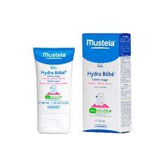 Mustela Hydra-bebe crema facial 40 ml. Textura fluida y ligera para la hidratación del rostro del recién nacido y del bebé.