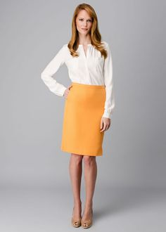 For fall dress-up/professional look: Lafayette 148 Petite Retro Cloth Sofia Skirt