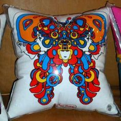 Peter Max inflatable pillow