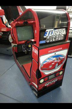 Turbo Out Run arcade game Arcade Game Machines, Arcade Machine, Arcade Console, Sonic Dash, Retro Arcade Games, 80s Video Games, Penny Arcade, Retro Images, Game Room Decor