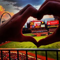 St. Louis cardinals, Busch Stadium, baseball #hearts