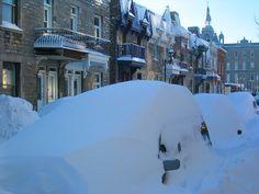 L'hiver sur le Plateau Mont-Royal, Montréal