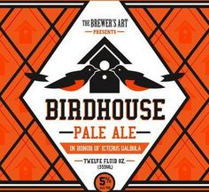 Here's the logo of Birdhouse Pale Ale, the Brewer's Art beer that will be available in cans in May (via Midnight Sun)