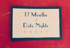 Gift: 12 Months of Date Nights