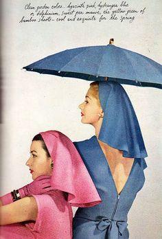 Dorian and Lisa, photo by Louise Dahl-Wolfe, Harper's Bazaar, Feb. 1945
