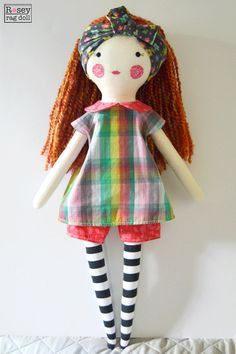 muñeca de trapo grandes: trébol, muñeca de trapo rosey,