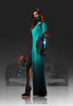 女性科幻风装甲如何设计? - 知乎@鱼的假想敌采集到角色设定(1536图)_花瓣游戏