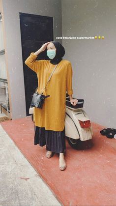 Modest Fashion Hijab, Modern Hijab Fashion, Casual Hijab Outfit, Ootd Hijab, Islamic Fashion, Casual Outfits, Style Hijab Simple, Hijab Style Tutorial, Chawan