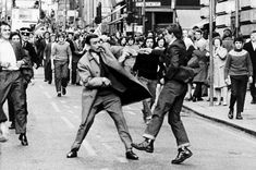 Demonstration - Parade of Irish Solidarity campaign in Sauchiehall Street, Glasgow. Detective Inspector G Johnston is attacked slashed by youth with razor.