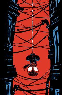 Miles Morales/Spider-man by Skottie Young Baby Marvel, Chibi Marvel, Marvel Art, Marvel Dc Comics, Marvel Heroes, Marvel Avengers, Marvel Cartoons, Ultimate Spider Man, Spiderman Spider