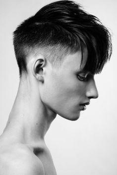 Modern Straight Bang Men's Hairstyle