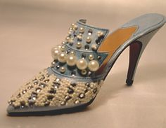 Frosted Fantasy by Just The Right Shoe Miniature Shoe