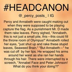 Mr. D, we can always count on him to be there to ruin the fangirls' Percabeth moments