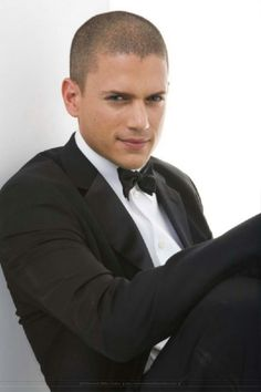 Wentworth Miller...in a suit