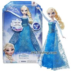"""Hasbro Year 2016 Disney Frozen Series 11 Inch Doll Set - Musical Lights ELSA with """"Let It Go"""" Song and Light Up Snowflakes"""