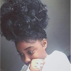 Her hair look so soft! Pelo Natural, Natural Hair Tips, Natural Curls, Natural Hair Styles, Natural Hair Puff, Natural Baby, Curly Tumblr, Black Power, Pelo Afro