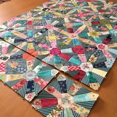 Love the pattern and color on this quilt