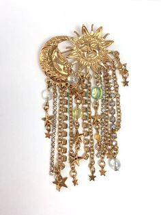 Kirks Folly Brooch Sun Stars Brooch Crystals by MicheleACaron