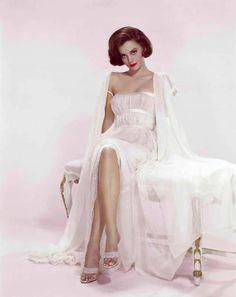 Natalie Wood in Empire Cut Sheer Dress