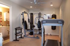 home gym in the basement