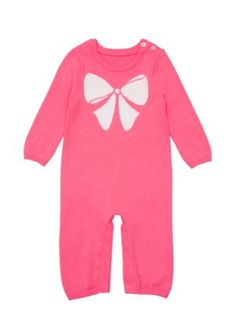 layette intarsia sweaterknit coverall - Kate Spade New York