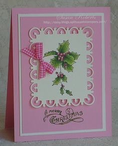 pink Christmas card...lovely!!