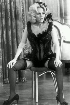 "Madeline Kahn as Lily Von Schtup in ""Blazing Saddles"" She was hilarious! A very funny lady see ""Young Frankenstein"" for more hilarity. Merle Oberon, Sean Penn, Catherine Deneuve, Samba, Madeline Kahn"