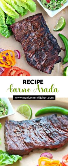 From time to time I receive e-mails asking some common questions for an Authentic Carne Asada recipe, the first one being how to marinate the meat. I always give out the same answer: every cook or Grilling Recipes, Meat Recipes, Mexican Food Recipes, Cooking Recipes, Healthy Recipes, Cooking Corn, Recipes Dinner, Free Recipes, Breakfast Recipes