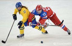 2014 Winter Olympics. Ice hockey. Women. Russia vs. Sweden
