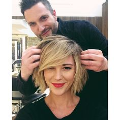 Longer and thicker bangs. i love it! Seriously considering this!