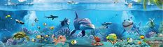 Underwater Wallpaper, Fish, Pets, Painting, Animals, Animales, Animaux, Painting Art, Paintings