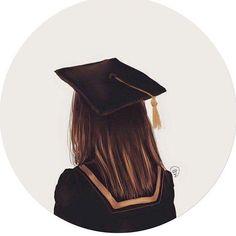 College Graduation Pictures, Graduation Picture Poses, Graduation Diy, Graduation Images, Cartoon Girl Drawing, Cartoon Art, Diy Lace Ribbon Flowers, Flower Graphic Design, Line Art Vector