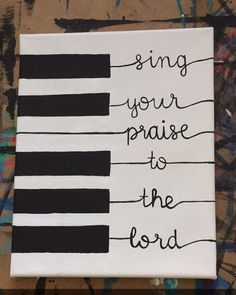 Religious sign music decor scripture sign sing your praise to the lord inspirational sign piano sign musical sign Cd Wall Art, Music Wall, Art Music, Piano Music, Music Life, Live Music, Music Crafts, Music Decor, Worship Night