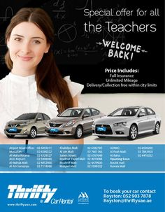 Special offers for teacher and faculty members!