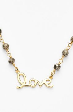 Argento Vivo 'Love' Frontal Necklace available at #Nordstrom50