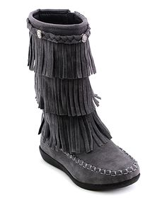 Gray Boho Boot