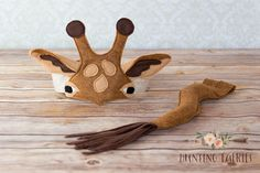 Earl the Giraffe Ears Headpiece and Tail by HuntingFaeries on Etsy