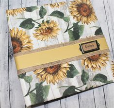 Recipe Binder, Sunflower Recipe Binder, Recipe Dividers, Rustic Recipe Binder, Custom Recipe Dividers, Recipe Organizer, Recipe Notebook Recipe Binders, Notebook Paper, How To Make Notes, Fabric Covered, Organizer, Soup And Salad, Special Occasion, Burlap, Great Gifts