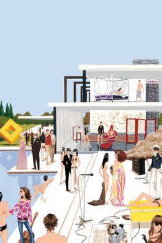 Jordi Labanda fashion and editorial illustrator: Wallpaper