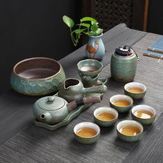 Japanese tea set with leaf tray Chinese Tea Set, Japanese Tea Set, Japanese Geisha, Japanese Kimono, Tea Sets Vintage, Tea Culture, Japanese Tea Ceremony, China Tea Sets, Tea Pot Set