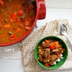 This Curry Beef Stew is a mix between a hearty beef stew and a creamy, slightly sweet, and just a tad-bit spicy soup. It's served best over some hot jasmine rice.