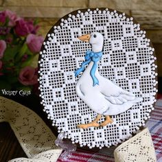'Father Goose on Lace'