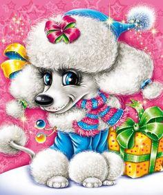 Иллюстрация для новогодней упаковки Собачка