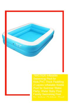 79X57X20 Inflatable Swimming Pool for Kids,PVC Thick Paddling 2 Layers Inflatable Kiddie Pool for Summer Water Party, Water Baby Pool, Family Swimming Pool for Indoor Outdoor, Garden, Backyard, ADU #toys Baby Pool, Kid Pool, Water Party, Indoor Outdoor, Swimming Pools, Backyard, Toys, Summer, Kiddy Pool